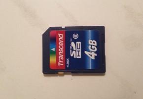 КАРТА ПАМЯТИ SD 4 GB НОВАЯ