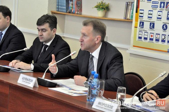 На вице-премьера Игоря Шувалова произвели впечатление Наволоки и резиденты будущего ТОСЭР фото 21