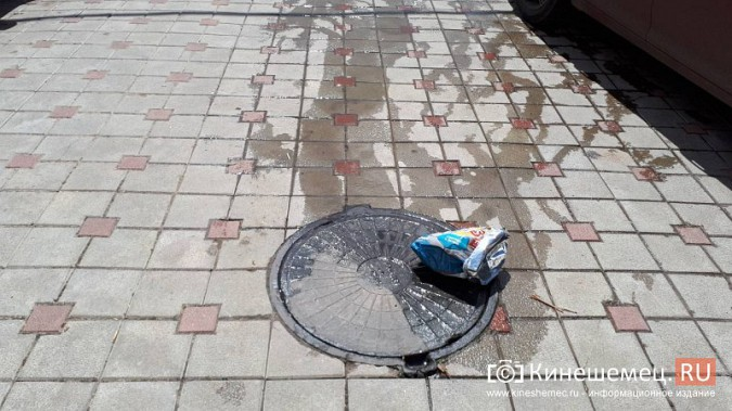 Центр Кинешмы заливает фекалиями из канализационных сетей фото 4