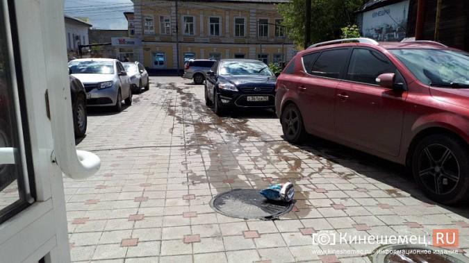 Центр Кинешмы заливает фекалиями из канализационных сетей фото 5