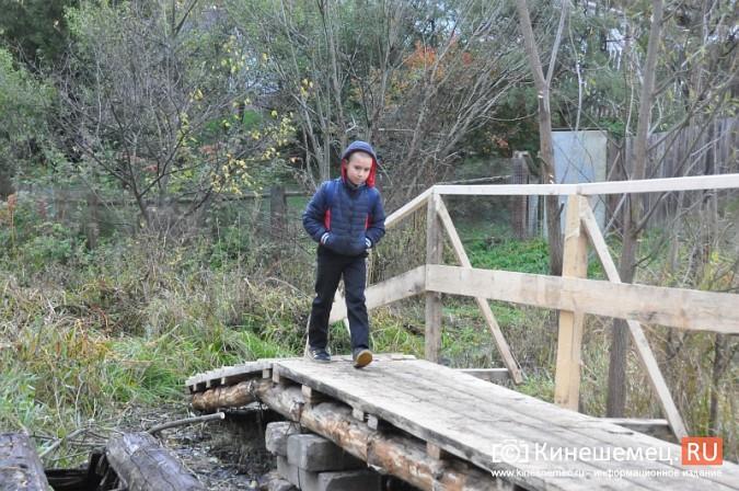 В Кинешме восстановили мост через речку Козлиху фото 11