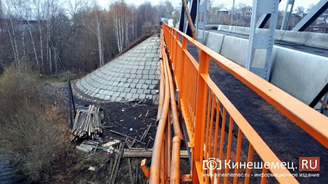 Кинешемский Никольский мост заиграл оранжевыми красками фото 14