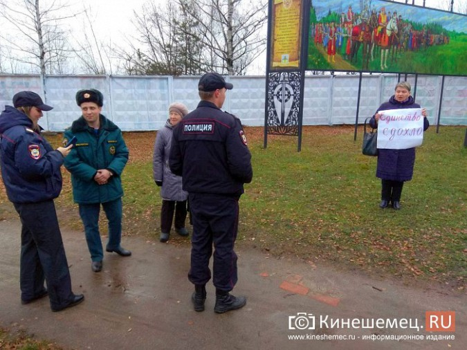 Жительница Алтая провела в Кинешме пикет с плакатом «Единство сдохло» фото 4