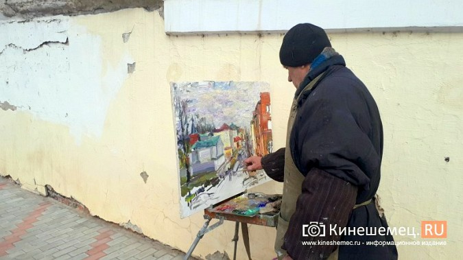 Известный кинешемский художник Борис Козлов вышел на весенний пленэр фото 3
