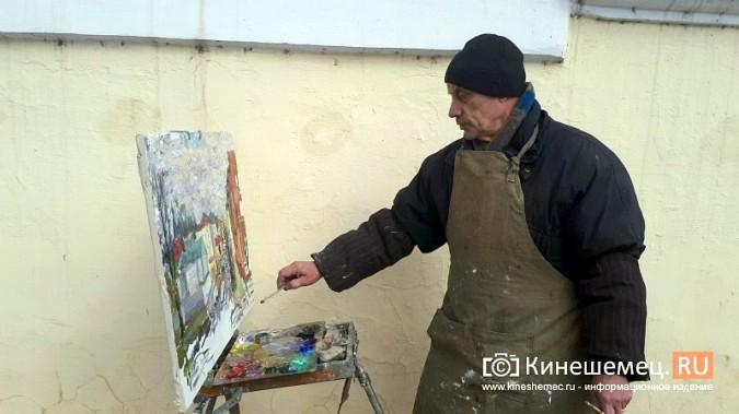 Известный кинешемский художник Борис Козлов вышел на весенний пленэр фото 4