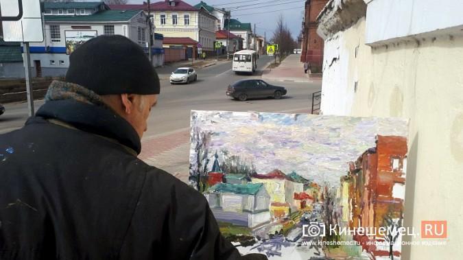 Известный кинешемский художник Борис Козлов вышел на весенний пленэр фото 5