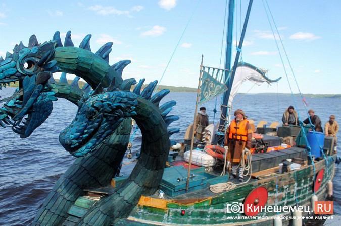 Древнерусская ладья «Змей Горыныч» пришвартовалась в Кинешме фото 6