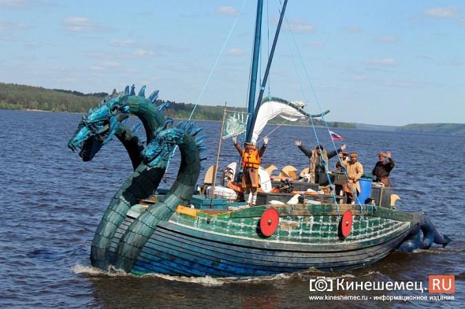 Древнерусская ладья «Змей Горыныч» пришвартовалась в Кинешме фото 3