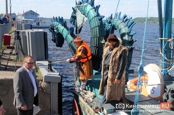 Древнерусская ладья «Змей Горыныч» пришвартовалась в Кинешме фото 11