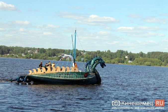 Древнерусская ладья «Змей Горыныч» пришвартовалась в Кинешме фото 4