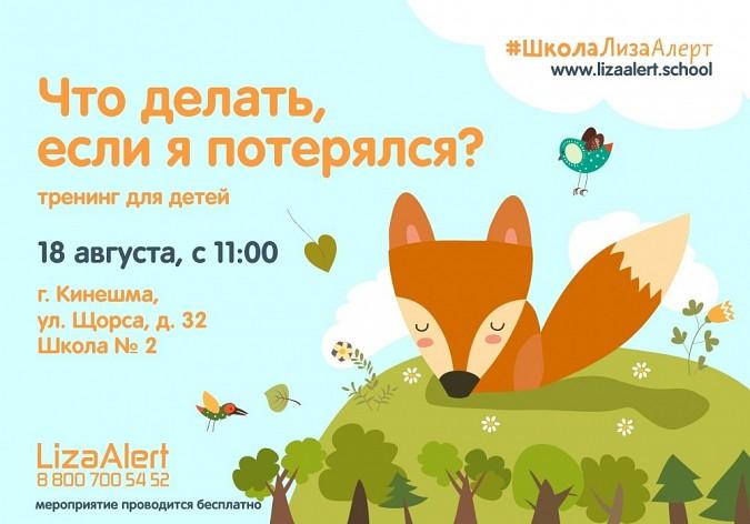 Поисковый отряд «Лиза Алерт» проведет в Кинешме тренинг для детей и родителей фото 2