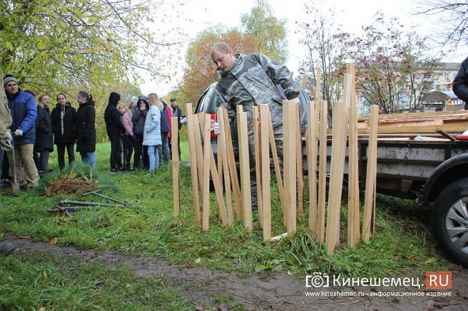 500 сосен высадили в сквере на улице Гагарина фото 4