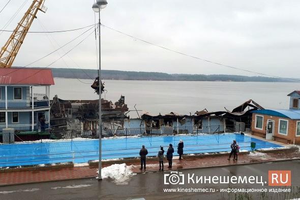В Кинешме устраняют последствия пожара на «Мирной пристани» фото 6