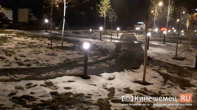 Кинешемский парк засиял огнями - включена новая подсветка фото 5