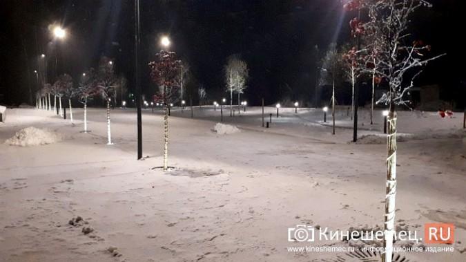 Кинешемский парк засиял огнями - включена новая подсветка фото 13