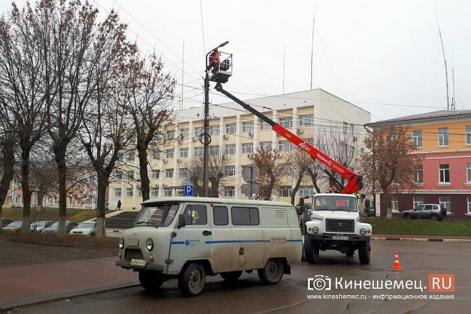 К середине декабря на улицах Кинешмы завершится установка светодиодных фонарей фото 2