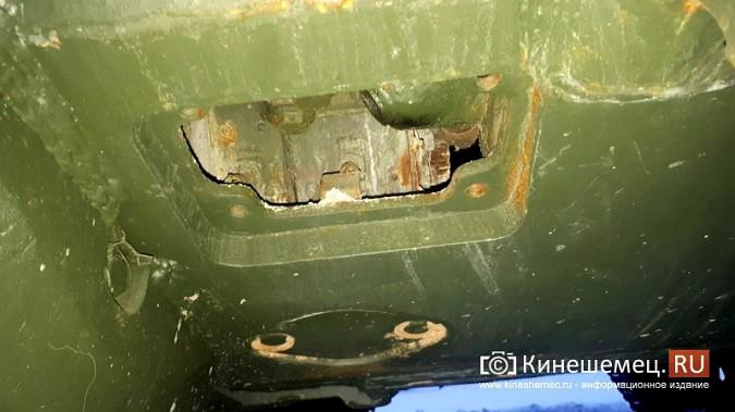 Танкисты Кинешмы просят заварить отверстие в днище Т-55 в парке фото 2