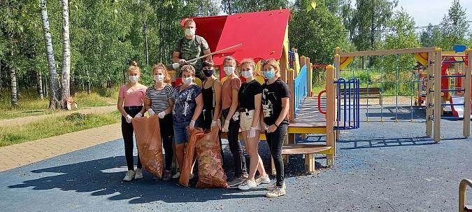 В Заволжске убрали 15 мешков мусора в парке фото 4