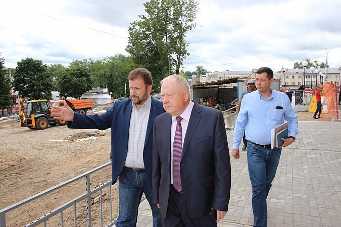 Вячеслав Ступин проверил ход работ на главных инфраструктурных объектах фото 7