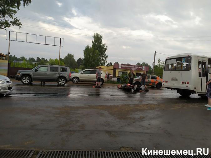 На улице Вичугской сбит мотоциклист фото 2