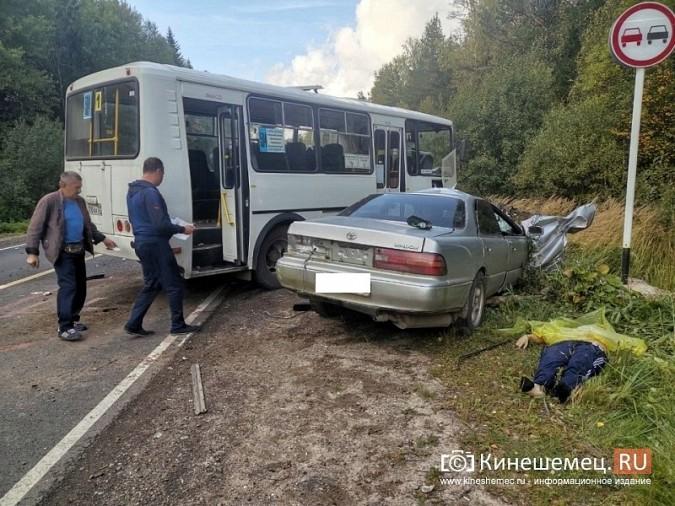 На трассе Кинешма - Юрьевец водитель «Тойоты» погиб в лобовом ДТП с автобусом фото 2