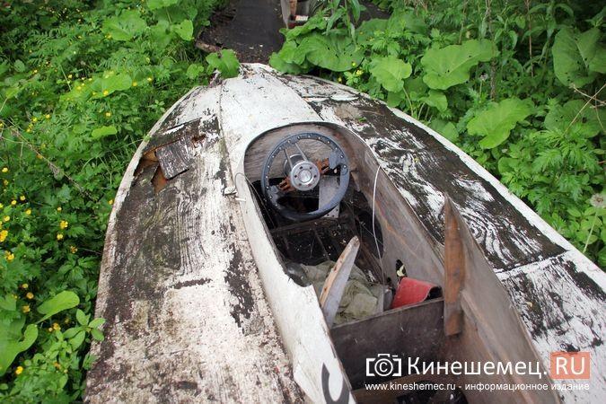 В Кинешме в зарослях у Никольского моста обнаружилось «кладбище» спортивных мотолодок фото 9