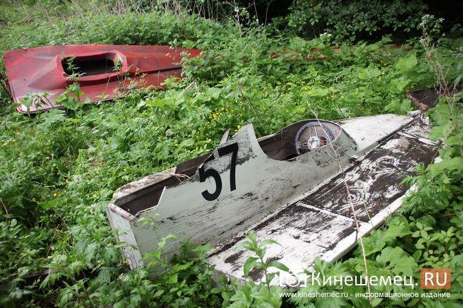 В Кинешме в зарослях у Никольского моста обнаружилось «кладбище» спортивных мотолодок фото 10