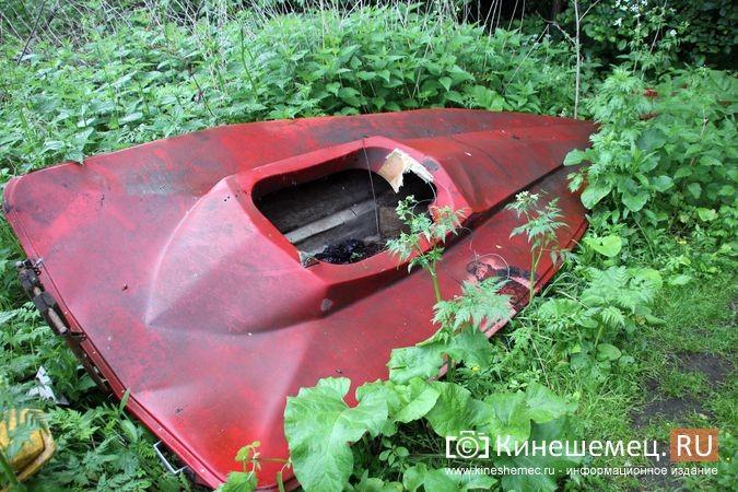 В Кинешме в зарослях у Никольского моста обнаружилось «кладбище» спортивных мотолодок фото 6