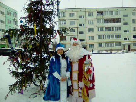 Дед Мороз и Снегурочка в Кинешме фото 2
