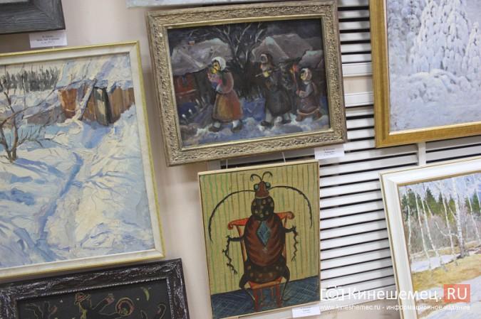 «Яркие краски холодной зимы» засияли в кинешемском художественном салоне фото 10