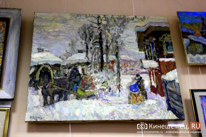 «Яркие краски холодной зимы» засияли в кинешемском художественном салоне фото 8