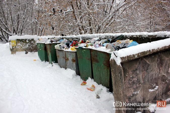 Снег парализовал вывоз мусора в Кинешме фото 4