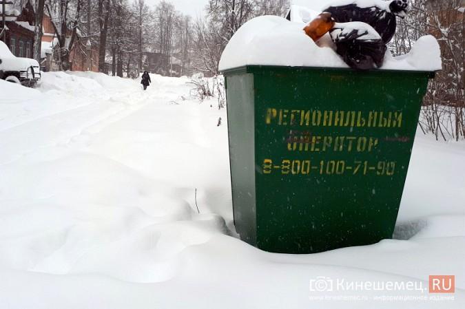 Снег парализовал вывоз мусора в Кинешме фото 2