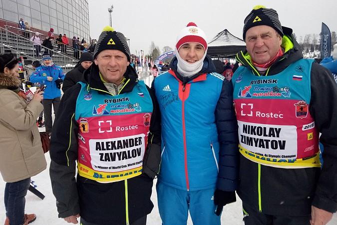Кинешемские лыжники соревновались с Олимпийскими чемпионами на Деминском марафоне фото 2