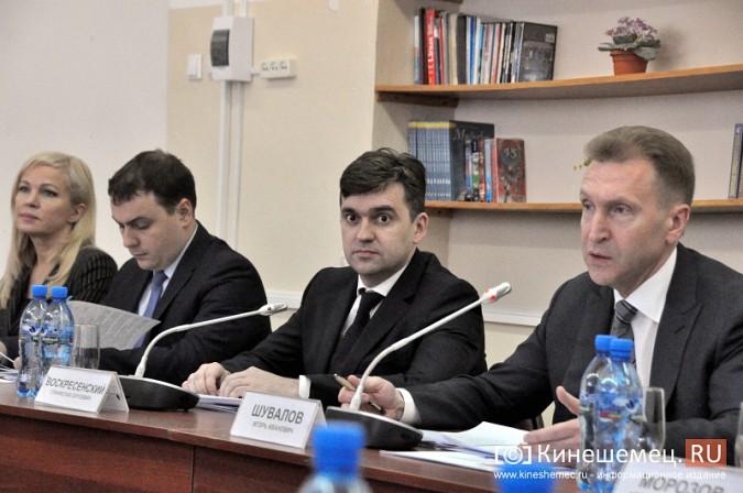 На вице-премьера Игоря Шувалова произвели впечатление Наволоки и резиденты будущего ТОСЭР фото 17