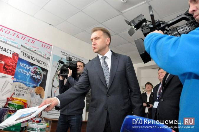 На вице-премьера Игоря Шувалова произвели впечатление Наволоки и резиденты будущего ТОСЭР фото 7