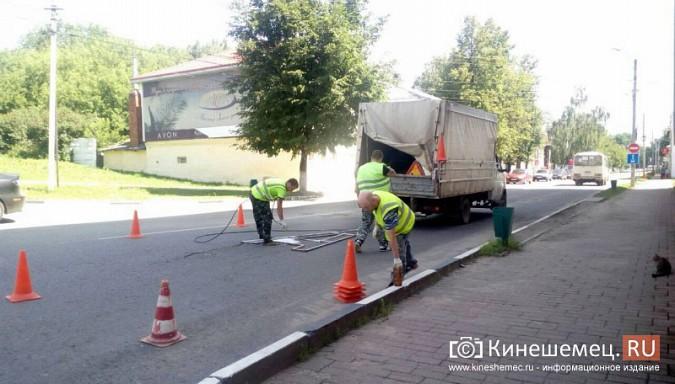 В Кинешме появилась разметка спецполосы для автобусов фото 4