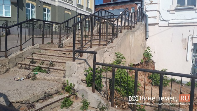В центре Кинешмы начали ремонтировать лестницы фото 2
