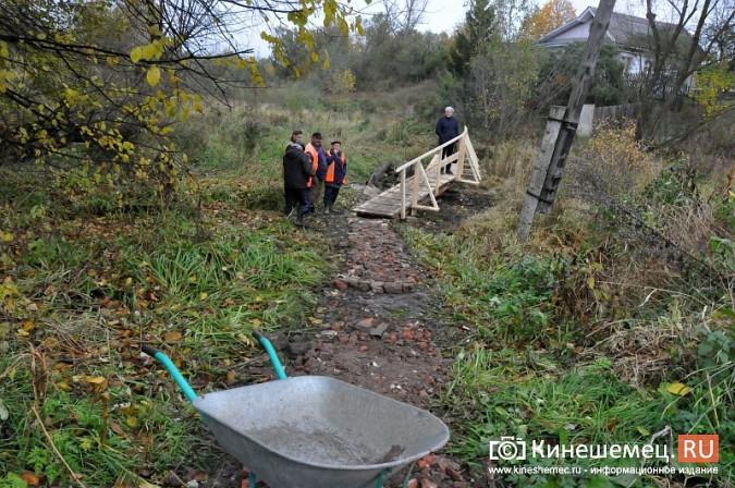 В Кинешме восстановили мост через речку Козлиху фото 2