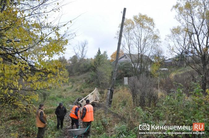 В Кинешме восстановили мост через речку Козлиху фото 13