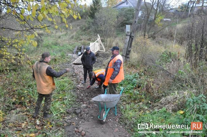 В Кинешме восстановили мост через речку Козлиху фото 12
