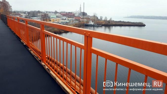 Кинешемский Никольский мост заиграл оранжевыми красками фото 11