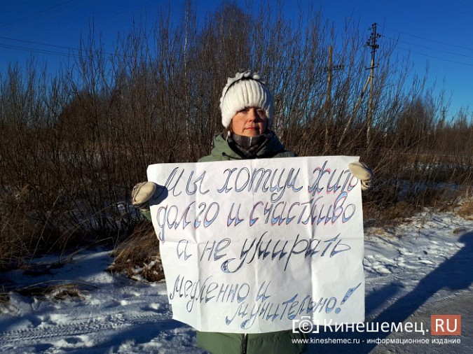 Жители Кинешмы и Заволжска вышли на пикет против строительства могильника химотходов фото 6