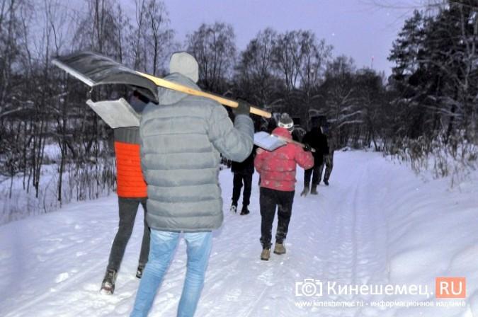 Кинешемский лихач на «УАЗе», испортивший лыжные трассы, приступил к их восстановлению фото 5