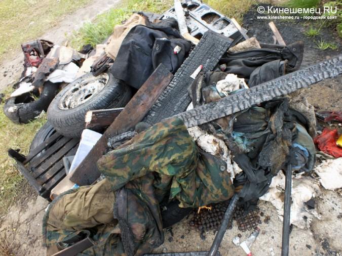 ВИвановской области сгорел гараж савтомобилем внутри