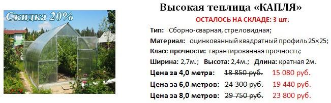 Предновогодняя распродажа теплиц от компании «Полимир» фото 5