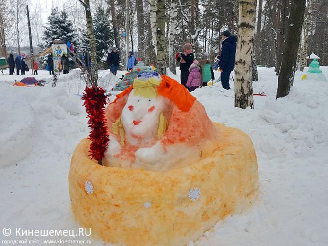 Конкурс снежных фигур прошел
