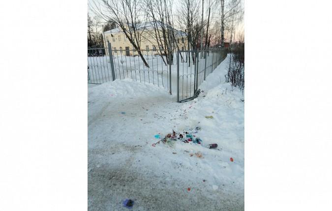 Жители Кинешмы начали выбрасывать мусор у школ фото 2