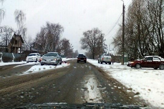 Снегопад стал причиной нескольких ДТП на улицах Кинешмы фото 4