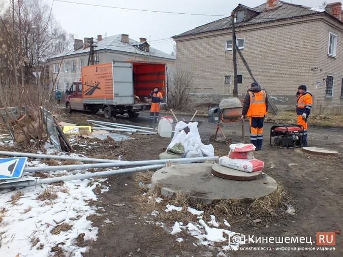 На улицах Кинешмы продолжается установка железных ограждений фото 3